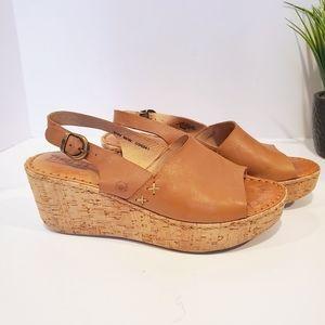 BORN Cork Wedge Sandal